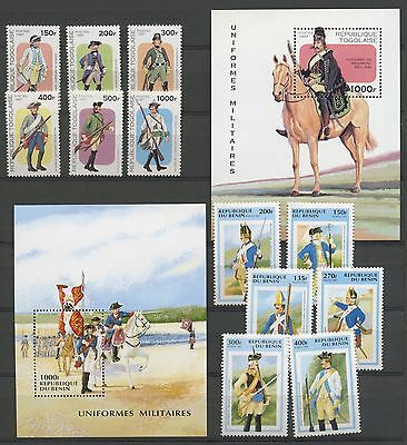 (Ta17015) Horses/military Uniforms, Small Collection, Um/mnh, See Scan