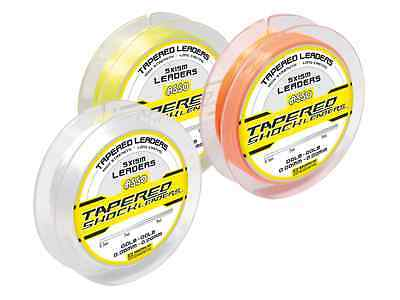 Tronixpro Xenon Tapered Shock Leader 5x 50//50 Tapered Leaders per spool