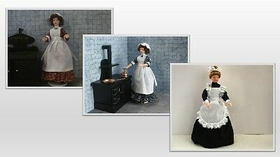 1:12 scale dolls house miniature domistic pose able  dolls  3 to choose from.