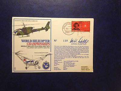 WORLD HELICOPTER CHAMPIONSHIPS 1973 - BFPS 1342c SIGNED & FLOWN COVER