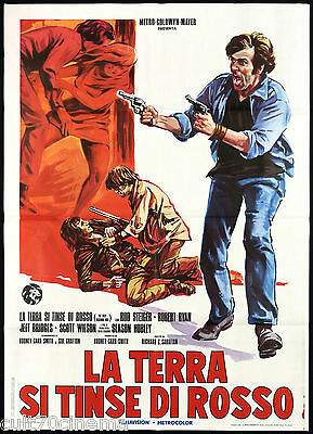 La Terra Si Tinse Di Rosso Manifesto Cinema 1973 The Lolly Madonna War Poster 2F