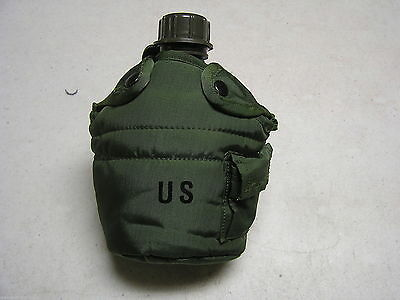 New 1 Quart Military Canteen New Cover With 2 Alice Clips 0120