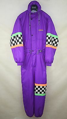 RODEO VINTAGE RETRO MENS PADDED SKI SUIT ONE PIECE size M ALL IN ONE