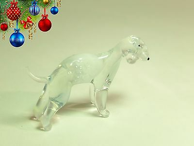 See VIDEO glass miniature Murano figurine BEDLINGTONE DOG Dollhouse ornament