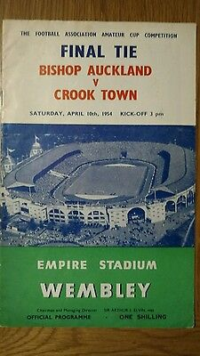Bishop Aukland v Crook Town 1954 amateur cup final match programme