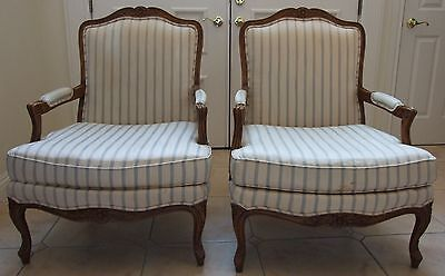 Pair French Provincial Drexel Heritage Arm Chairs
