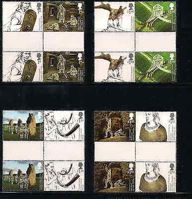 2017 Gb Qeii Royal Mail Ancient Britain Commemorative Stamp Gutter Pairs Set