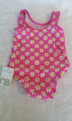 Mothercare - NEW - Baby Girls One Piece Swimsuit 9 - 12 months Pink
