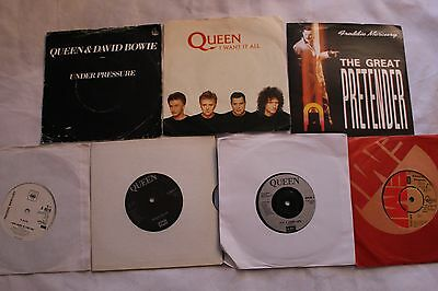 "Queen/Freddie Mercury - Job Lot of 7 x 7"" singles -All listed"