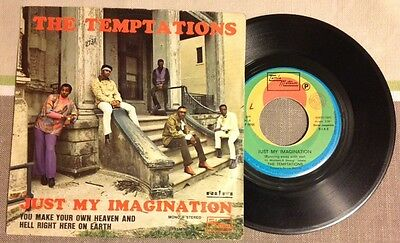 "THE TEMPTATIONS / JUST MY IMAGINATION - 7"" (Italy 1971 - Tamla Motown) RARE"