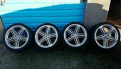 Audi a5 genuine 19 alloy wheels with tyres