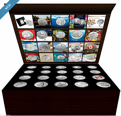 Complete Royal Canadian Mint Collector's BOX + 20 SILVER COINS SET (2011-2015)