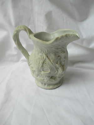 PORTMEIRION White Parian Ware Jug with Embossed Figures