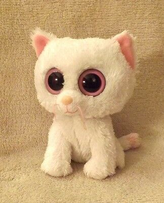 """Genuine TY Beanie Boo Cashmere the Cat 6"""" Solid Eyes (no swing tag)"""