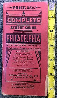 1948 Complete Street Guide To Philadelphia Booklet 192 Pgs