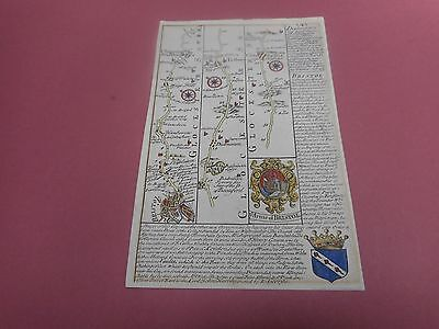 100% Original Bristol Cirencester Burford Map By Bowen C1720 Vgc Hand Coloured
