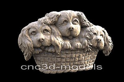 3D Model STL for CNC Router Engraver Carving Artcam Aspire Dog Dogs Sweet 045