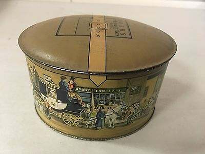 Antique Dobbs Fifth Avenue Hats New York Candy Tin Litho