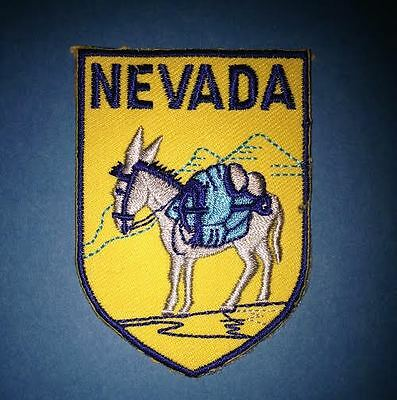 Vintage Nevada Shield Flag Hat Jacket Biker Vest Backpack Travel Patch Crest B