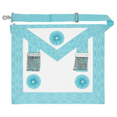 New Craft Masonic MM Master Masons  Apron with Pocket Regalia MM 3rd Degree