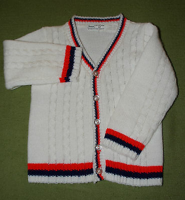 VIntage 1970s SEARS Boys Cardigan Sweater 3T (fits Like 18 Months)