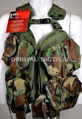 New Fox Outdoor Gear SPEAR Tactical Vest Chest Rig Woodland BDU