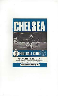 Chelsea v Manchester City European Cup Winners Cup Semi Final 1970/71