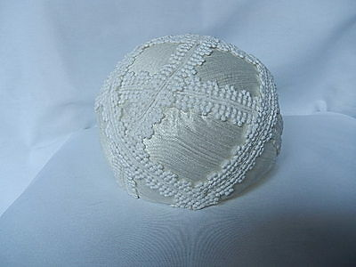 Childs Hat - Vintage - Wedding - Communion - White - 1960's