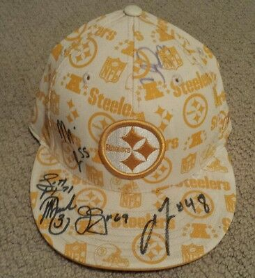 Pittsburgh Steelers Autographed Hat. Reed Haggans Caprizzi Paxson Cooper Trucks