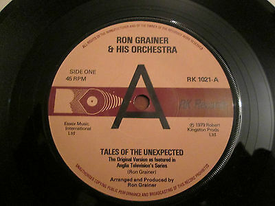 "Ron Grainer & His Orchestra ‎– Tales Of The Unexpected - UK 7"" Promo 1979"