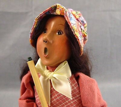 "Byers Choice Caroler Figure 9.5"" Traditional Child Wooden Christmas Figurine"