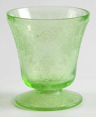 Hazel Atlas FLORENTINE #2 GREEN Juice Glass 1002865