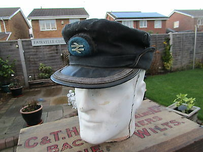 Old vintage British rail Train Drivers cap / Hat used condition no major damage