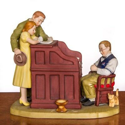 Norman Rockwell - The Marriage License - Ceramic Sculpture