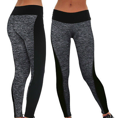 Womens Ladies Yoga Fitness Leggings Running Gym Stretch Sports Pants Trousers UK