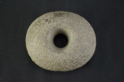 A Perforated Ceremonial Stone, Native American Indian, Circa: 1600