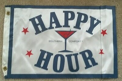 """Southern Comfort happy hour Banner/Flag 19""""x12""""  LOT OF 5"""