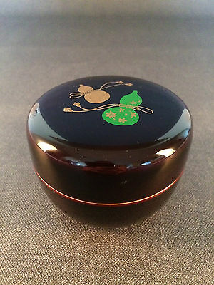 Hira-natsume with Gourd Design Tea Container for Japanese Tea Ceremony