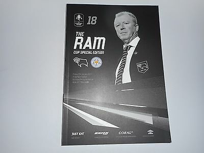 DERBY COUNTY  v  LEICESTER CITY  2016/17 F A CUP 4th ROUND - MINT ** BEST DEAL**