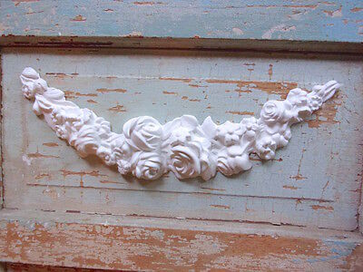 SHABBY n CHIC FURNITURE APPLIQUES * LARGE ROSE SWAG * FLEXIBLE * PAINTABLE