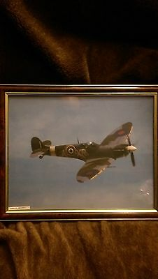 """Spitfire picture in frame size 40"""" by 32"""" in great condition"""
