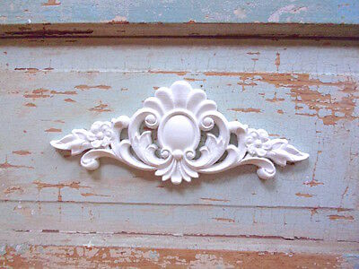 SHABBY n CHIC FURNITURE APPLIQUES * FLORAL CREST * FLEXIBLE * PAINTABLE