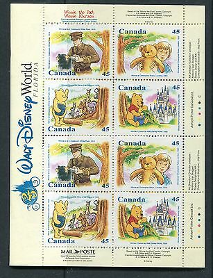Canada 1996 Winnie the Pooh Booklet of 16 Scott 1621 NH