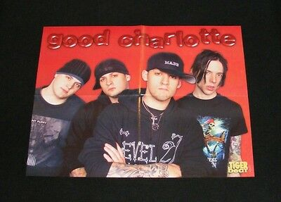 GOOD CHARLOTTE magazine clippings lot with POSTER No1
