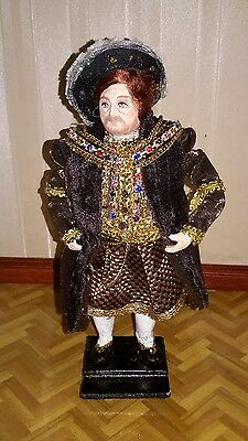Dolls house hand made  King Henry VIII doll by Sue Coupe