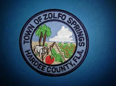 Town of Zolfo Springs Hat Jacket Biker Vest Backpack Hoodie Travel Patch Crest