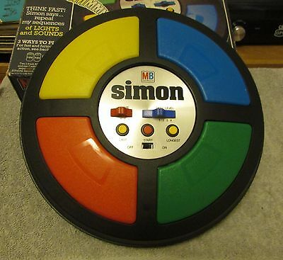 Simon - Vintage Electronic MB Game - (Battery Cover Missing)