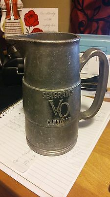Vintage Seagrams VO Canadian Whisky Bar Mug Pitcher