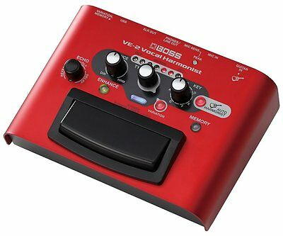 Boss VE-2 Vocal Harmonist Mic Effects Pedal