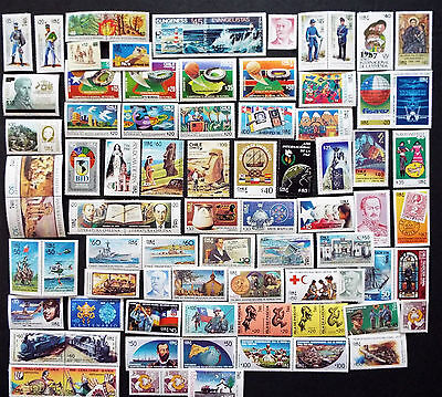 Chile Mint Stamps From 1985 To 1988 @ $77 Value